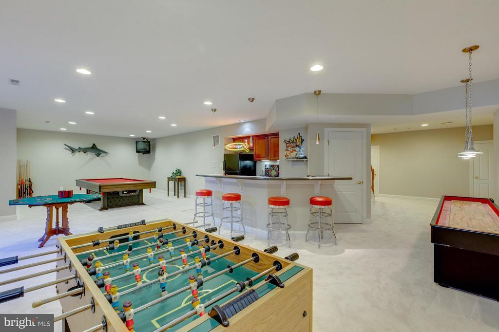Lower Level Wetbar and Entertainment Area - 41605 SWIFTWATER DR, LEESBURG