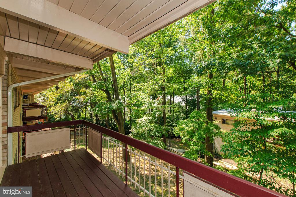 Balcony on the quiet side of the building - 7747 DONNYBROOK CT #206, ANNANDALE