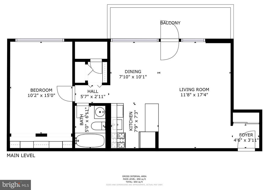 Floor plan - 7747 DONNYBROOK CT #206, ANNANDALE