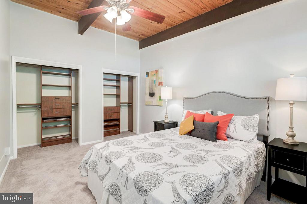 Master bedroom with custom closet system! - 7747 DONNYBROOK CT #206, ANNANDALE
