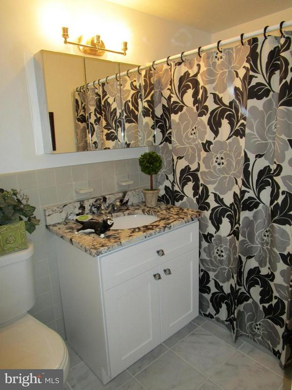 Master Bathroom With Marble Floor - 3900 WATSON PL NW #A-5E, WASHINGTON