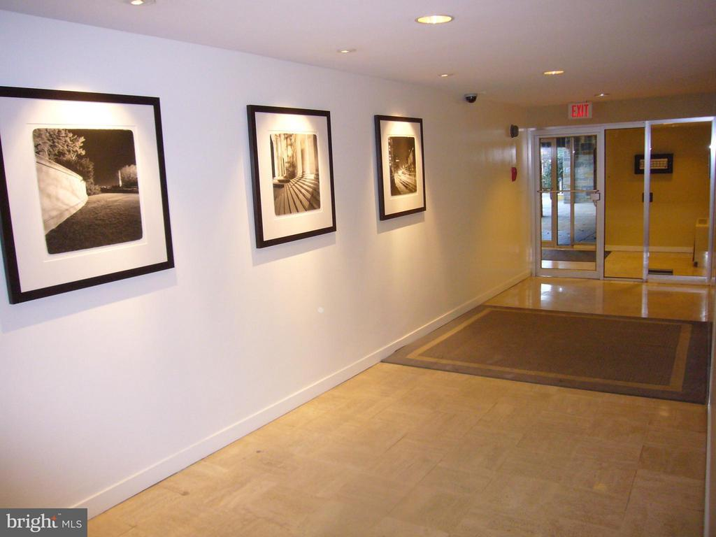 The Hallway at the Rear Entrance to the A Building - 3900 WATSON PL NW #A-5E, WASHINGTON