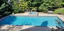View of lovely landscaped yard, pool and spa - 4200 PINERIDGE DR, ANNANDALE