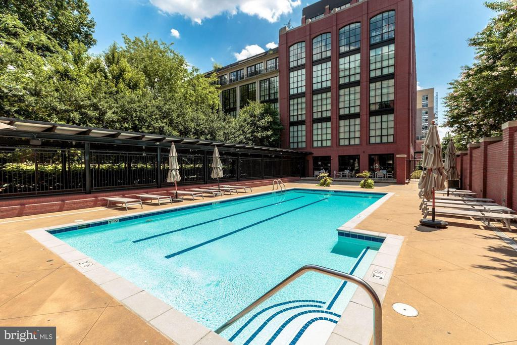 OUTDOOR POOL WITH GRILLING AREA AND SUN DECK - 1600 CLARENDON BLVD #W305, ARLINGTON