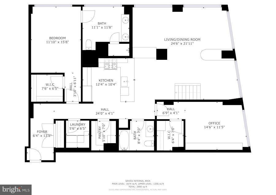 MAIN LEVEL FLOORPLAN - 1600 CLARENDON BLVD #W305, ARLINGTON