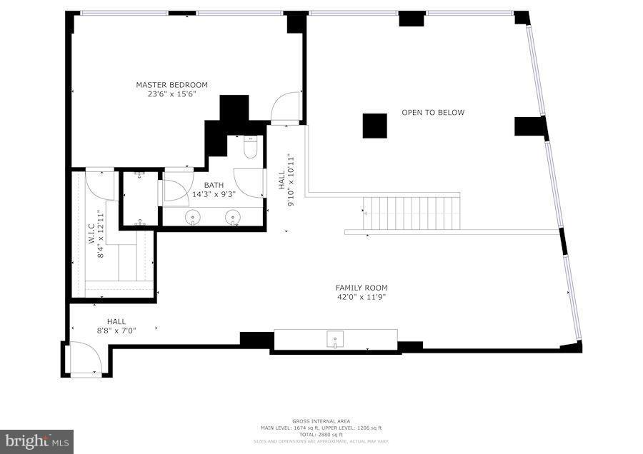 UPPER LEVEL FLOORPLAN - 1600 CLARENDON BLVD #W305, ARLINGTON