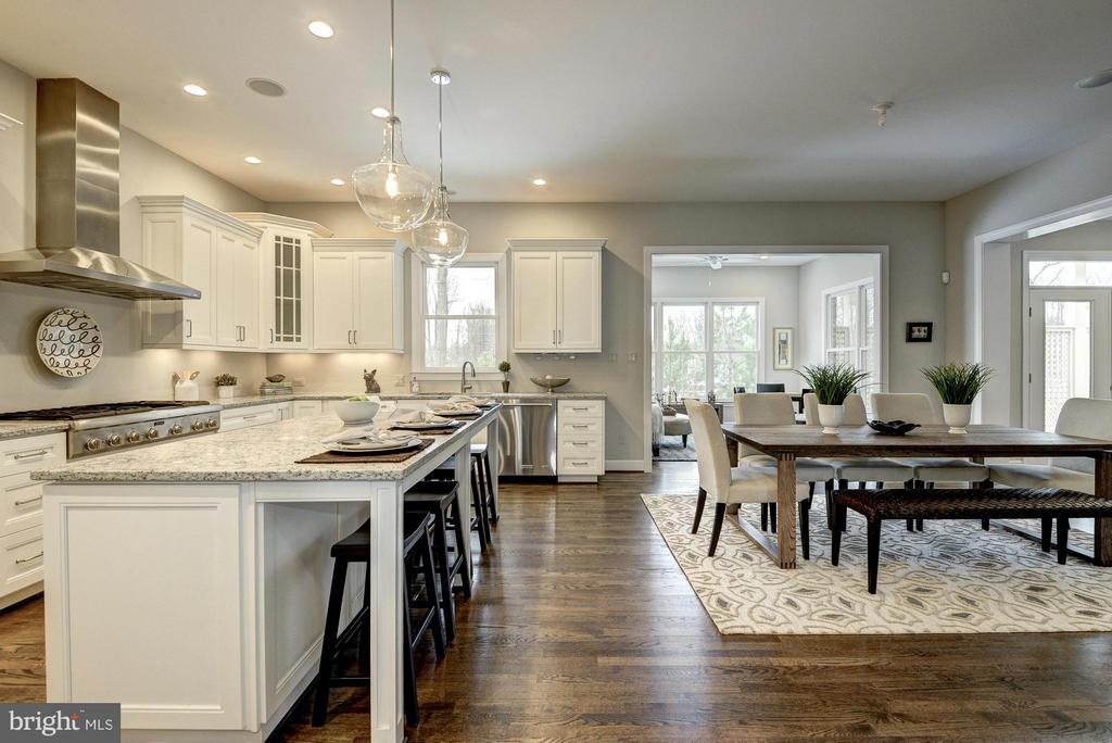 Model Home Kitchen & Breakfast Area - HARLEY RD, LORTON