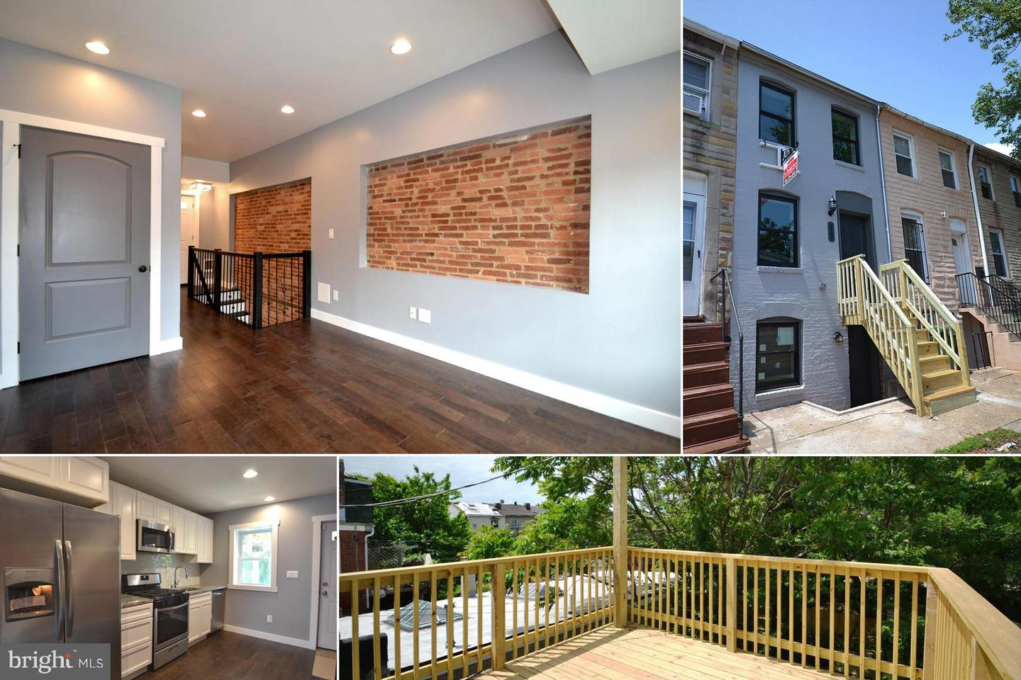 Single Family for Sale at 112 Carrollton Ave S Baltimore, Maryland 21223 United States