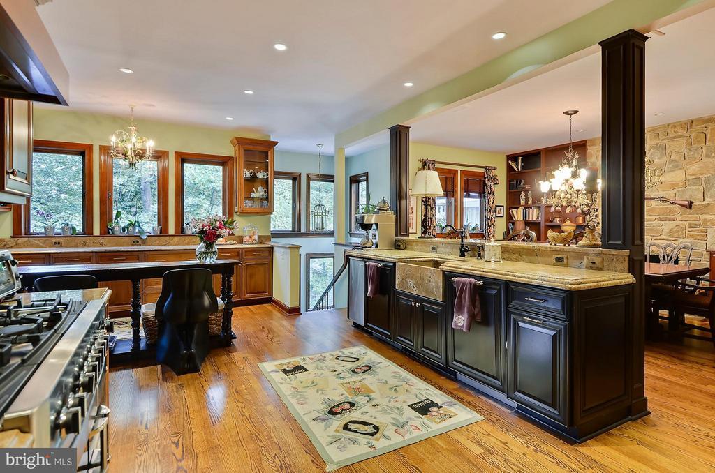Kitchen lots of windows - 4015 N RANDOLPH ST, ARLINGTON