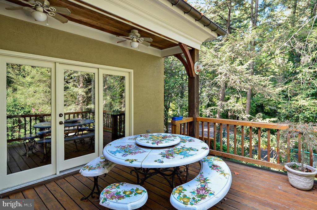 Deck off dinning room $ kitchen - 4015 N RANDOLPH ST, ARLINGTON