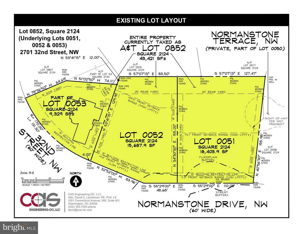 Existing Lot Layout - 2701 32ND ST NW, WASHINGTON