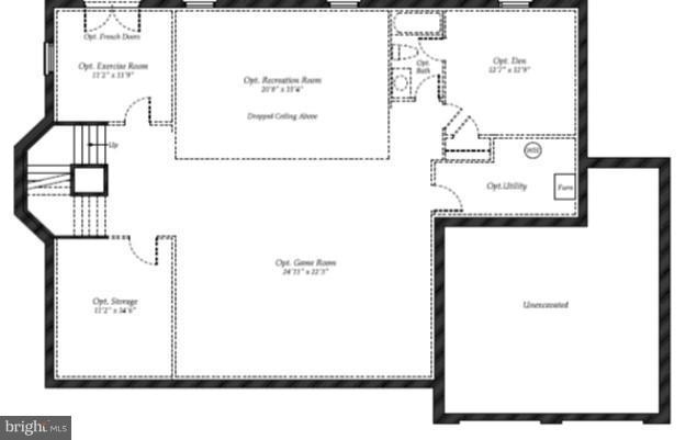 Basement Floor Plan - 40170 MONROE VALLEY PL, ALDIE