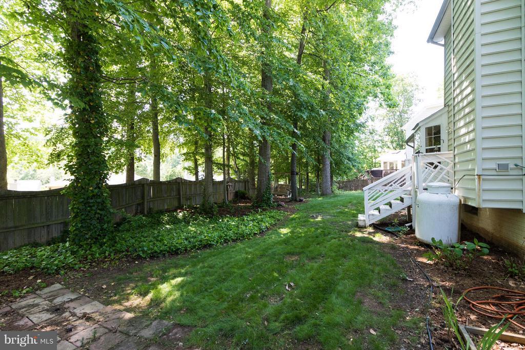 Fenced back yard - 16 JASON CT, STAFFORD