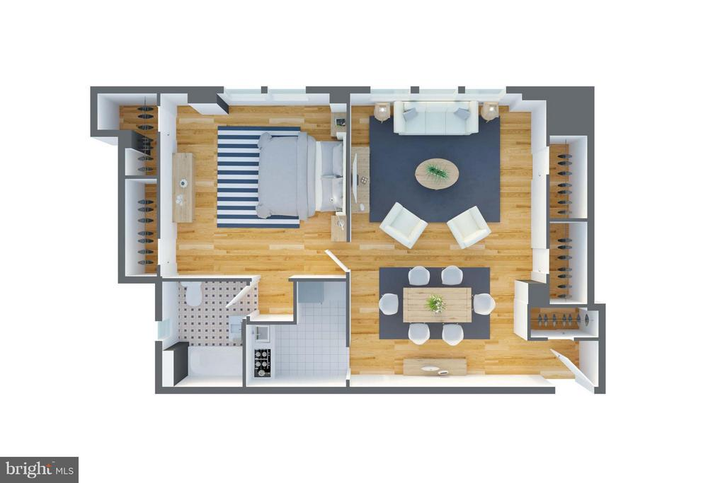 Floor Plan for the Home - 3601 CONNECTICUT AVE NW #312, WASHINGTON