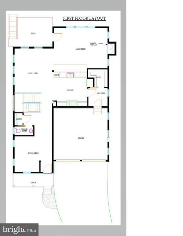First Floor Layout, 3105 Plyers Mill - 3105 PLYERS MILL RD W, KENSINGTON