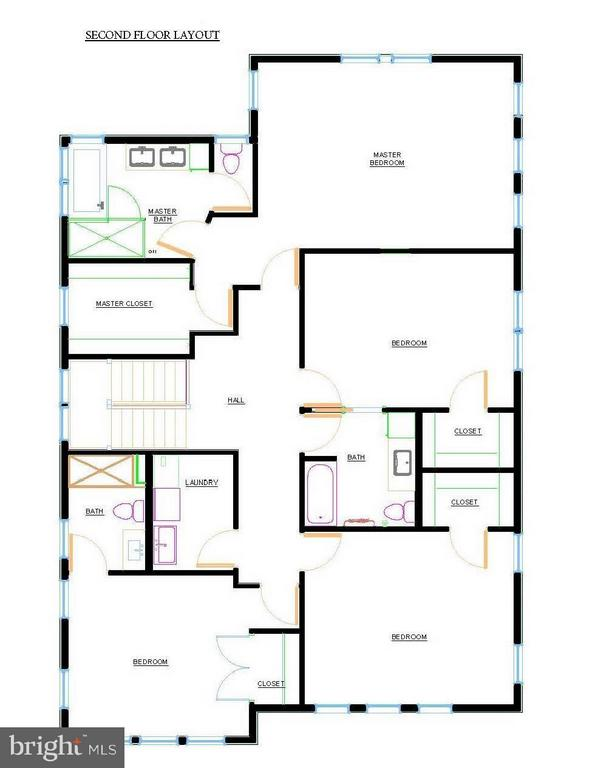 Second Floor Layout, 3105 Plyers Mill - 3105 PLYERS MILL RD W, KENSINGTON