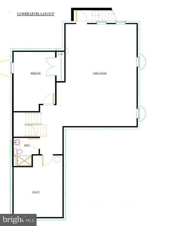 Lower Level Floor Layout, 3105 Plyers Mill - 3105 PLYERS MILL RD W, KENSINGTON