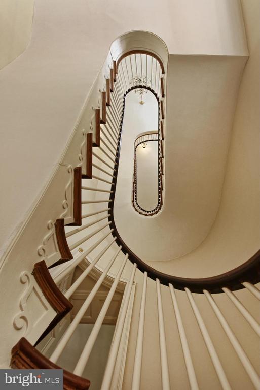 Floating Three-Story Staircase - 301 S SAINT ASAPH ST, ALEXANDRIA