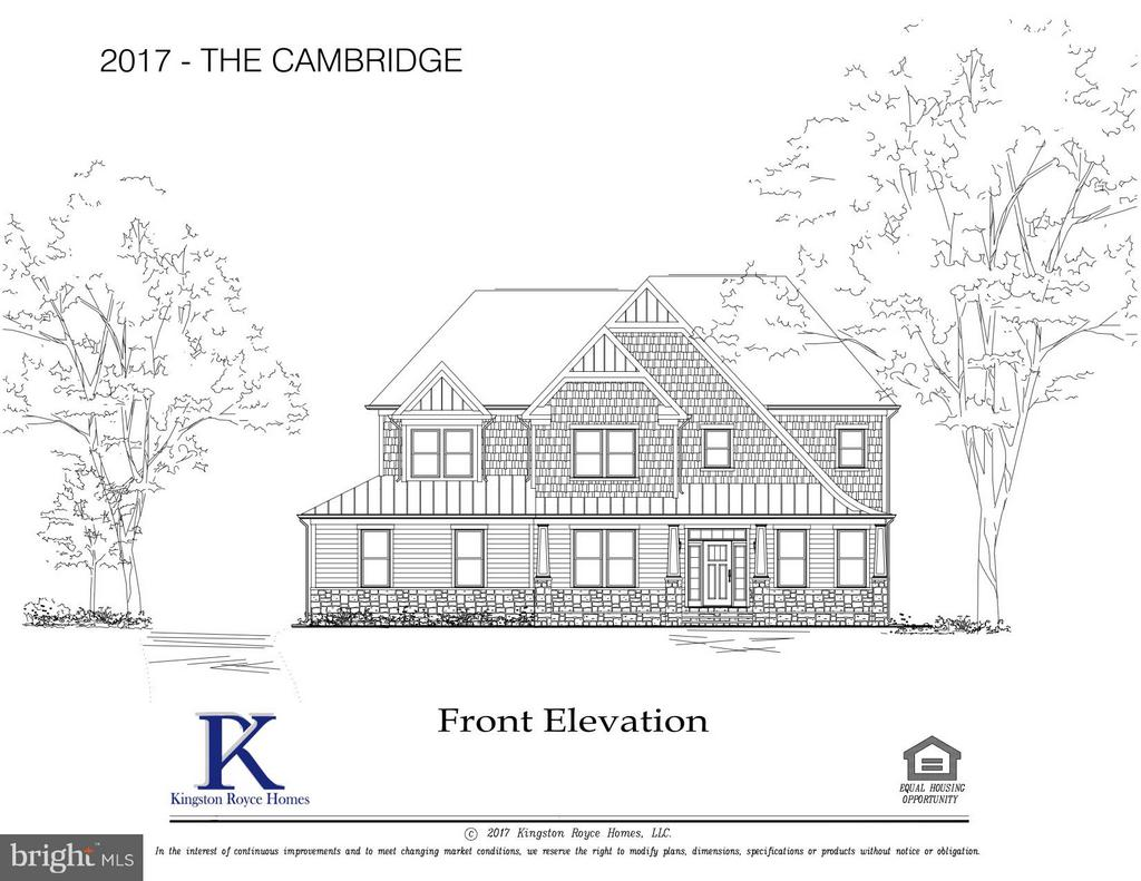 Cambridge Model Front Elevation - 3859 GANELL PL, FAIRFAX
