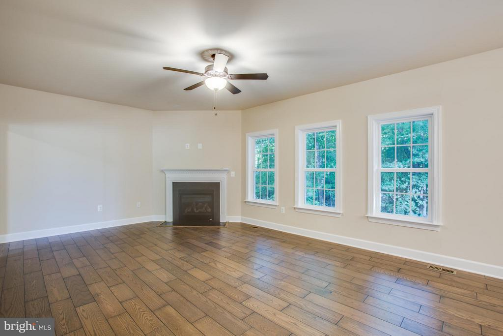 Family Room with Gas Fireplace - 12209 DELL WAY, FREDERICKSBURG