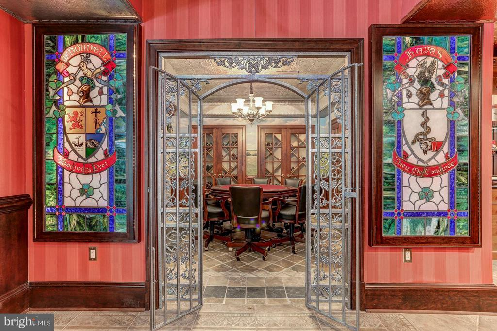 Entrance to card room off of wine cellar - 7984 GEORGETOWN PIKE, MCLEAN