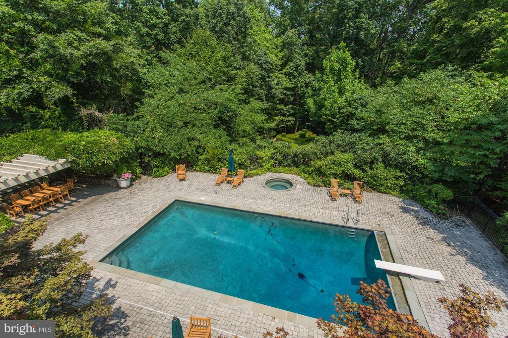 Pool, hot tub, and outdoor dining area - 7984 GEORGETOWN PIKE, MCLEAN