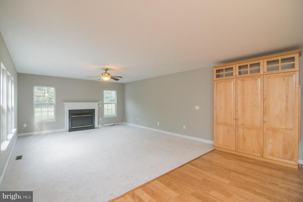 Spacious family room w/FPL and new carpet - 25975 MCCOY CT, CHANTILLY