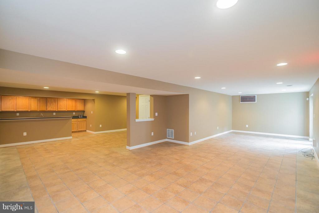 Large rec room in LL with walk-up to the backyard - 25975 MCCOY CT, CHANTILLY