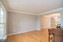 Bright living room with hardwood floors - 25975 MCCOY CT, CHANTILLY