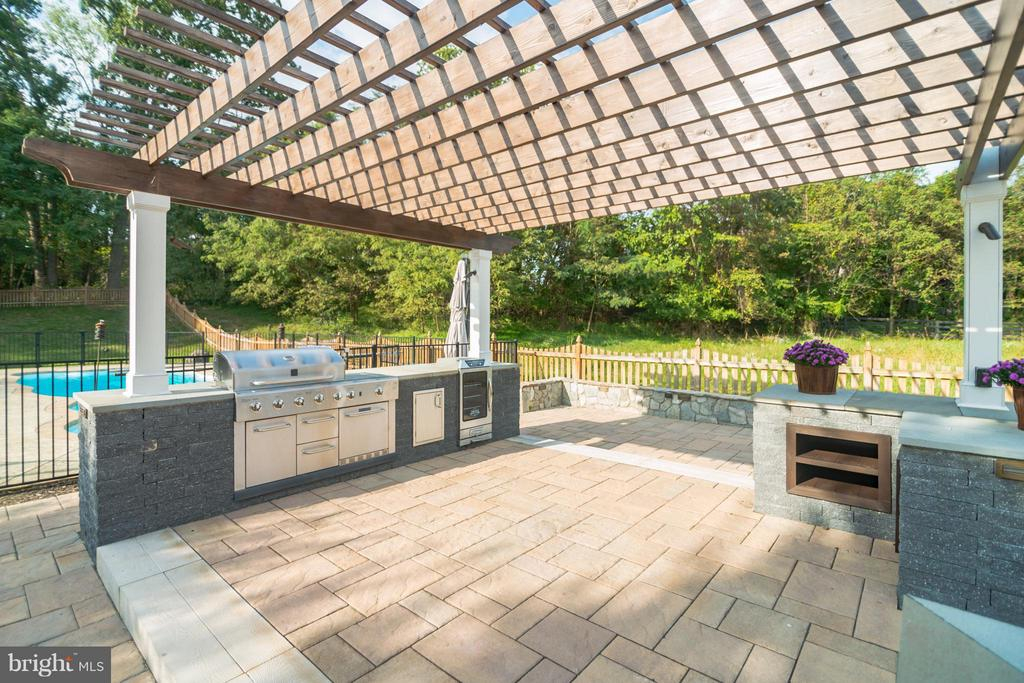 Built-in grill with gas line and smoker - 25975 MCCOY CT, CHANTILLY