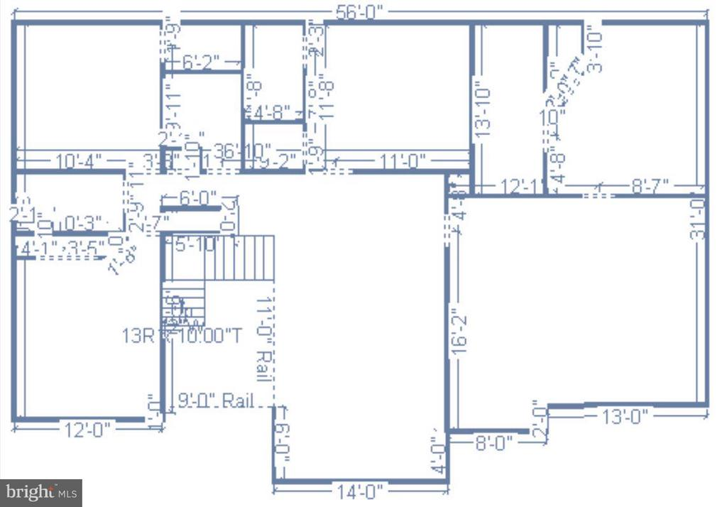 Upper level floor plan - 25975 MCCOY CT, CHANTILLY