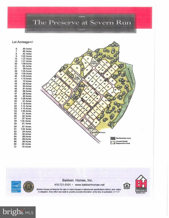 Site Plan for The Preserve at Severn Run - 1509 BEAUX LN, GAMBRILLS