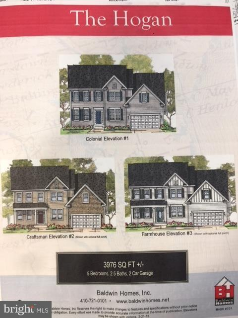 Different available exterior elevatio - 317 BONHEUR AVE, GAMBRILLS