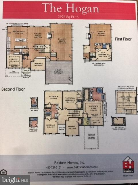 Hogan  model floorplan  5 level - 317 BONHEUR AVE, GAMBRILLS