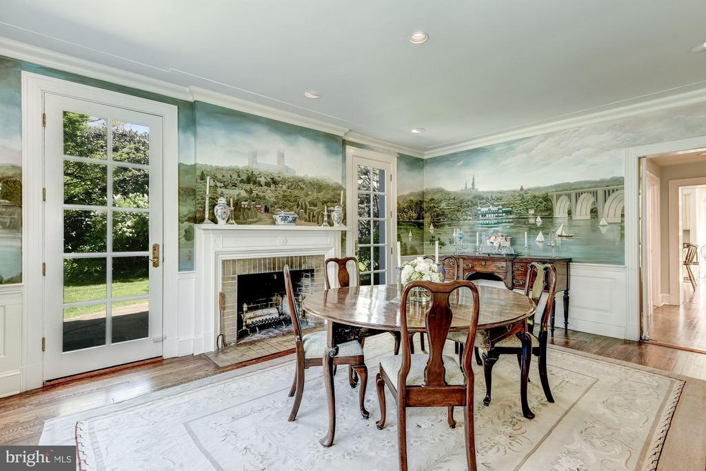 Formal Dining room with wood-burning fireplace - 2727 34TH PL NW, WASHINGTON