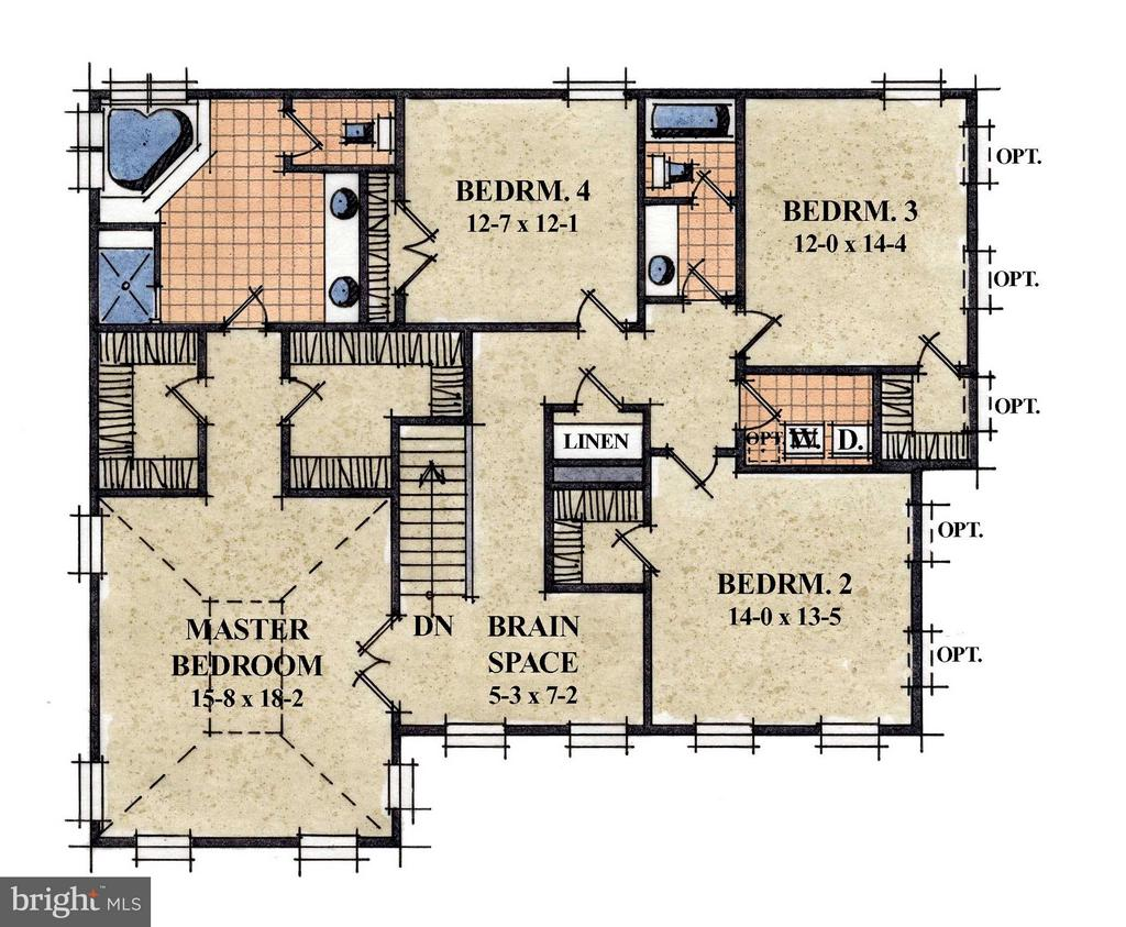 Upper Level Floor Plan - 1512 BEAUX LN, GAMBRILLS