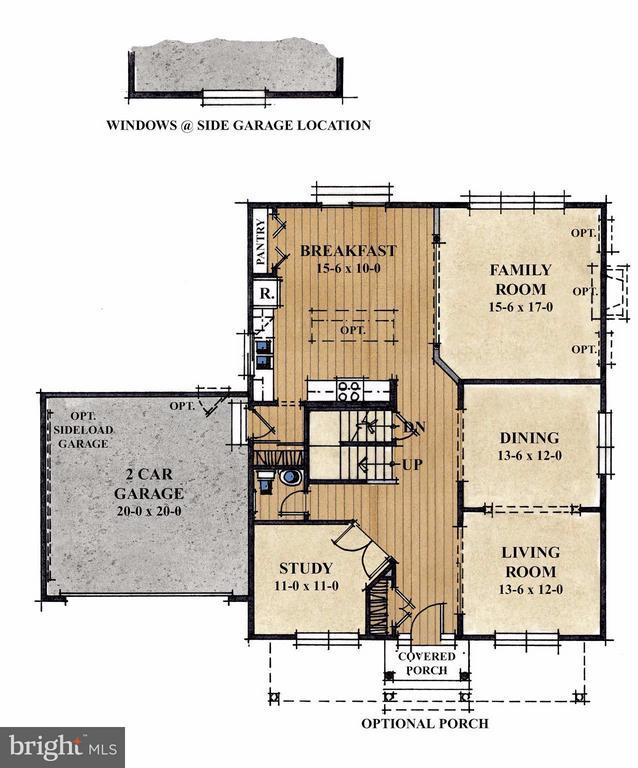 Main Floor Layout - 1504 SIRANI LN, GAMBRILLS