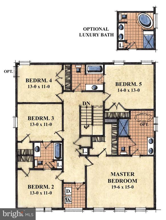 Upper Level Floor Plan - 1502 SIRANI LN E, GAMBRILLS