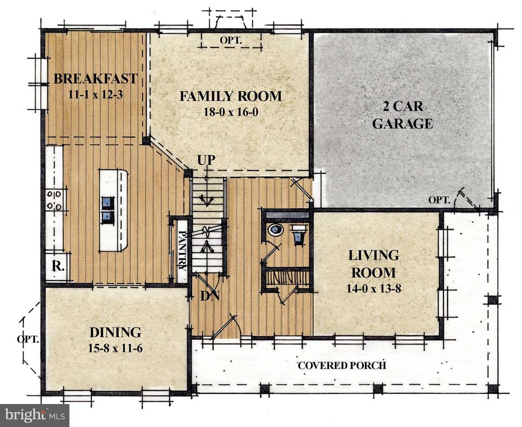 Main Level Floor Plan - 1506 SIRANI LN E, GAMBRILLS