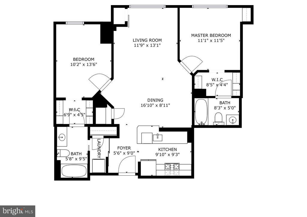 Floor plan - 1000 NEW JERSEY AVE SE #1115, WASHINGTON