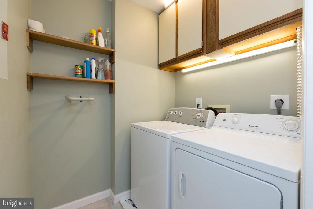Laundry with full size washer and dryer - 7902 BADENLOCH WAY #204, GAITHERSBURG