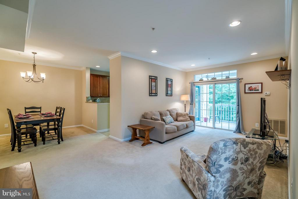 Open Concept Family Room with Recessed Lights - 20385 BELMONT PARK TER #116, ASHBURN