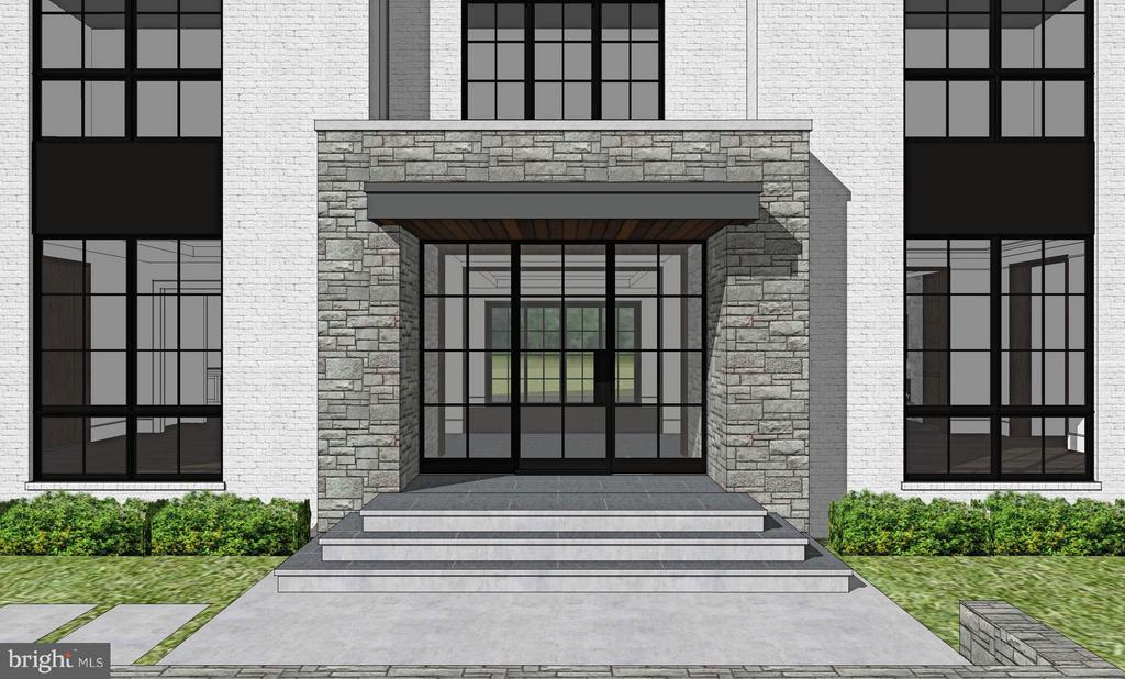 Dramatic Front Entrance - 1200 MOTTROM DR, MCLEAN