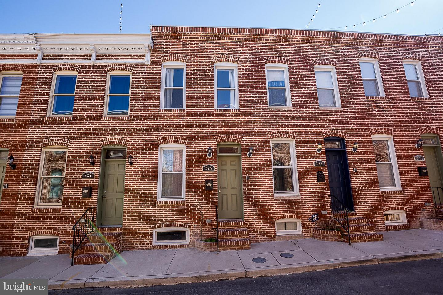 Single Family for Sale at 225 Madeira St N Baltimore, Maryland 21231 United States