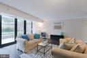 Sunny Living Room with floor to ceiling windows - 1200 CRYSTAL DR #211, ARLINGTON