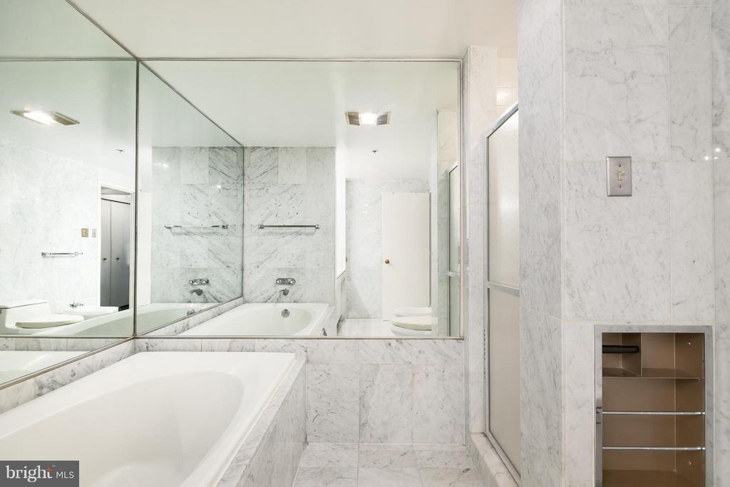 Master Bathroom with separate tub and shower - 1200 CRYSTAL DR #211, ARLINGTON