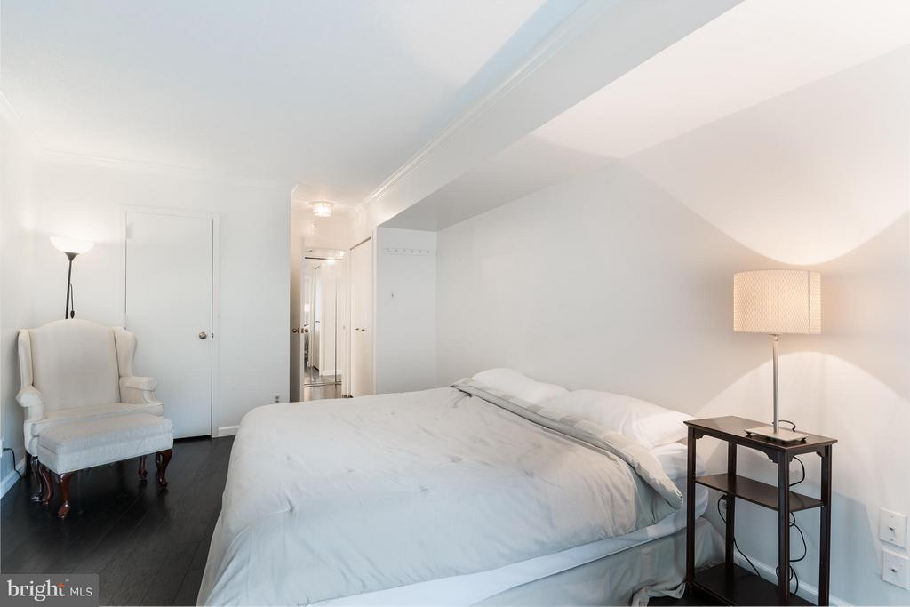 Master BR walks out to private terrace - 1200 CRYSTAL DR #211, ARLINGTON