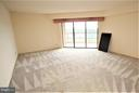 Living room area and open air terrace - 1600 OAK ST #1727, ARLINGTON
