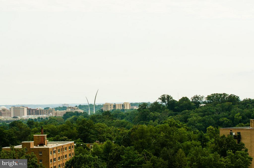 View from the open air terrace - 1600 OAK ST #1727, ARLINGTON