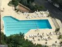 View of Outdoor pool from open air terrace - 1600 OAK ST #1727, ARLINGTON